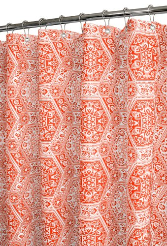 Venetian Tiles Shower Curtain, Tangerine