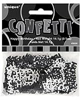 Confettis Joyeux Anniversaire Glitz Noir - 14 grammes