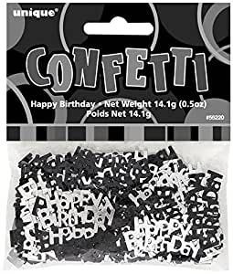 Schwarz Glitz Happy Birthday Tischkonfetti 14 Grams