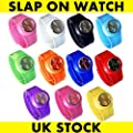 Slap On Snap On Silicon Silicone Rubber Sports Watch 2012 Fashion 11 Colours Available - Happy Bargains Ltd