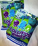 Disney Pixar Monsters University Lollipop Rings - 2 Packs of 3 Rings