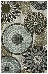 Mohawk Home New Wave Inspired India  Printed Rug, 5\'x7\', Light Multi