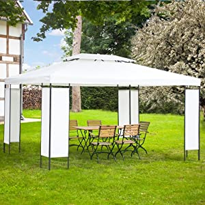 pavillon pavillion partyzelt 3x4 zelt garten stahlrohr milano. Black Bedroom Furniture Sets. Home Design Ideas
