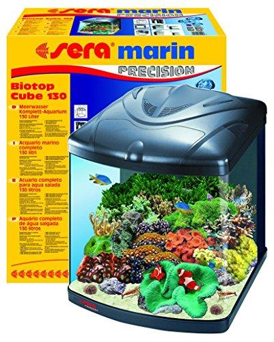 sera 31100 marin biotop cube 130 ein 130 l meerwasser komplettaquarium mit pl t5 beleuchtung und. Black Bedroom Furniture Sets. Home Design Ideas