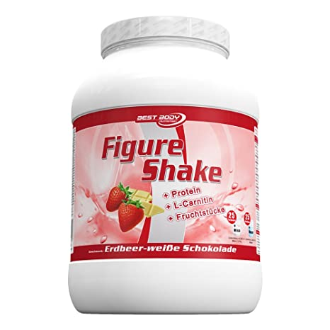 Best Body Nutrition Figure Shake, Erdbeere-weisse Schokolade, 750g Dose