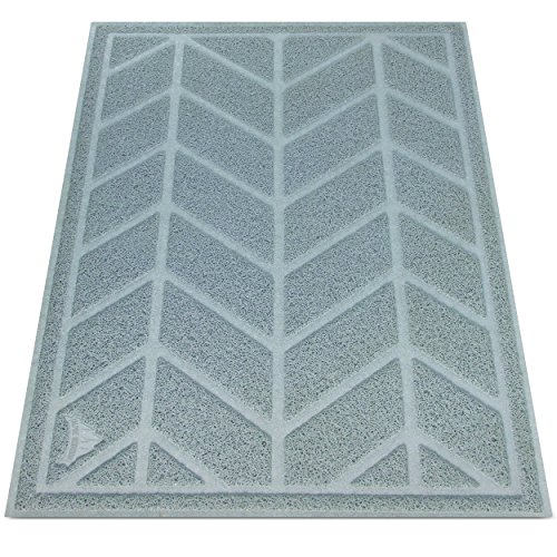 Cat Litter Mat by Alpine Neighbor | XL Jumbo Size to Trap Litter and Keep Floors Clean | Decorative Chevron Design Cover Extra Large Kitty Litterbox Tray for Small Pet Rug Cats/Dog Food Cleaning Mats (Litter Pan Mat compare prices)