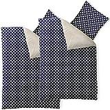 4-tlg-flauschig-weiche-Winter-Bettwsche-Sterne-Muster-verschiedene-Gren-Lammfell-Optik-Nicki-wrmend-Set-2x-135-x-200-cm-CelinaTex-6000283-Fantasia-Stella-blau-wei-beige