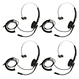 B Blesiya 4x Office Call Center Headset W/ Mic Noise-Canceling Headphone RJ9 Head