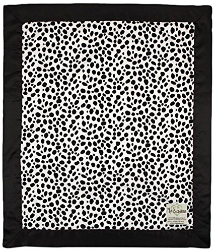 "My Blankee Dalmatian Minky Baby Blanket, 30"" X 35"", Black/White"