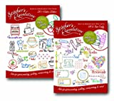 Aunt Martha's Stitchers Revolution Iron On Transfer Pattern Set, Kitch'n Stitch'n and Sew Crafty