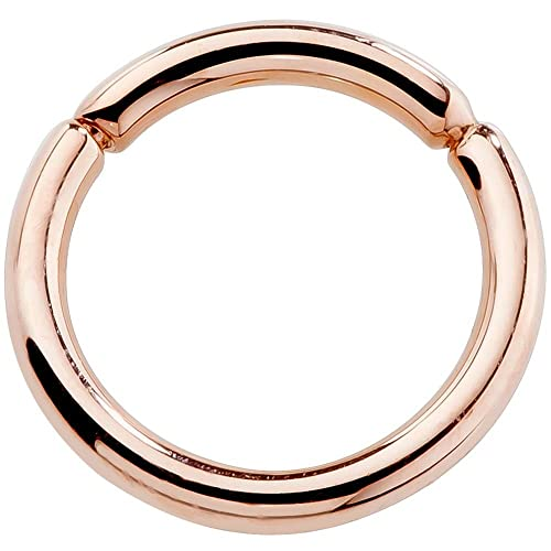 "FreshTrends 14 Gauge 7/16"" - Solid 14KT Rose Gold Segment Ring"