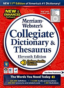 Merriam Webster's Collegiate Dictionary & Thesaurus 11th Edition Deluxe Audio for Mac... by Fogware Publishing