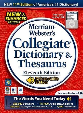 Amazon Com Merriam Webster S Collegiate Dictionary