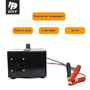 HPDAVV 12V DC 30Mpa PCP Rifle Compressor Scuba Tank Pump with Digital Temperature Display,Oil-Free Paintball Compressor Pump,US After-Sales Servic,5.5 KG,Operational Video (Color: Black, Tamaño: 12V DC 30Mpa)