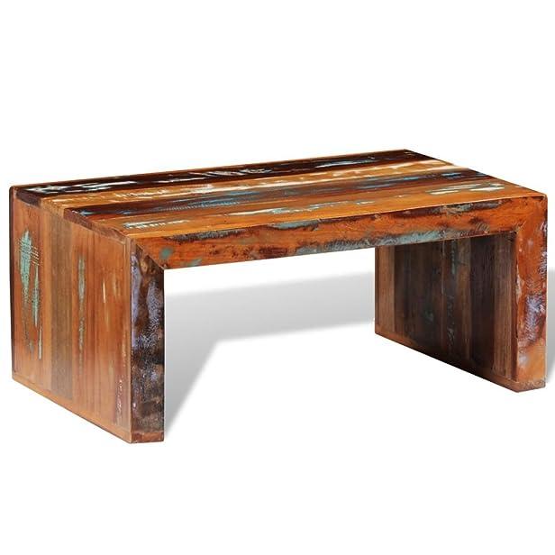 vidaXL Tavolino per caffè in legno anticato stile retro