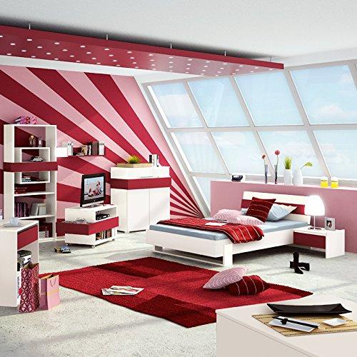 Jugendzimmer Set HOMEROOM113 weiß, rot jetzt kaufen