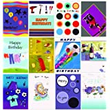12 Greeting Birthday Cards for Boys & Men's Birthdaysby Greetingsbox Card Packs
