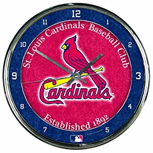 MLB St. Louis Cardinals Chrome Clock by WinCraft