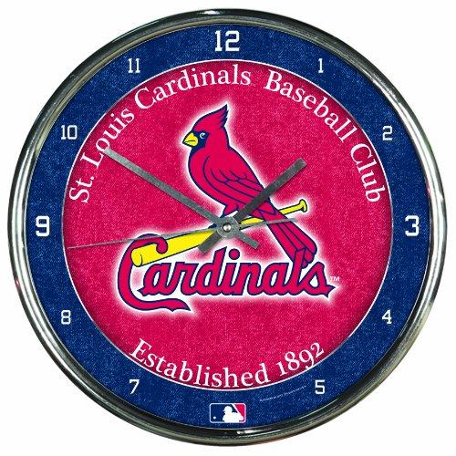 MLB St. Louis Cardinals Chrome Clock