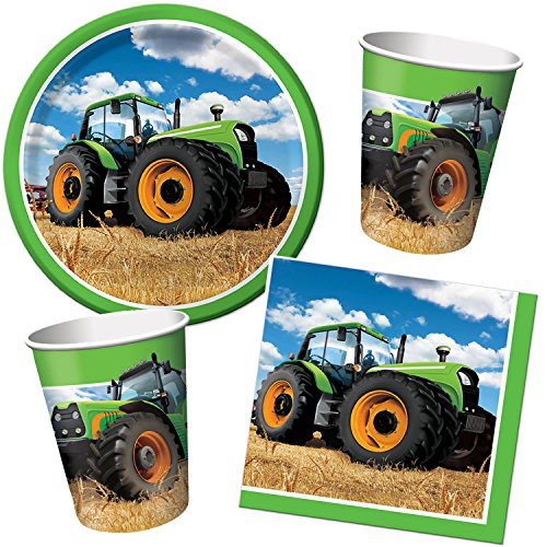 33 teiliges traktor partyset bestehend aus teller. Black Bedroom Furniture Sets. Home Design Ideas
