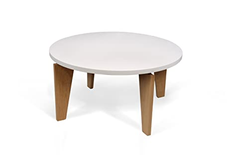 Temahome Magnolia Coffee Table, Pure White and Oak