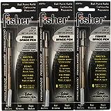 Refills for Bullet Fisher Space Pen 3 Pack Black SPR4