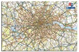 A - Z London Map Wall Chart Poster - 91.5 x 61cms (36 x 24 Inches)