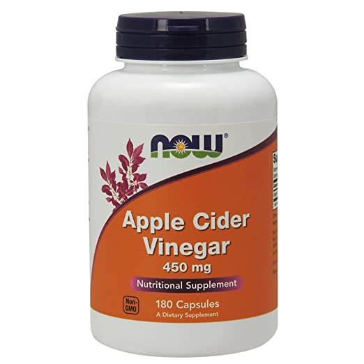 Now Foods Apple Cider Vinegar, 450 mg Capsules, 180-Count at amazon