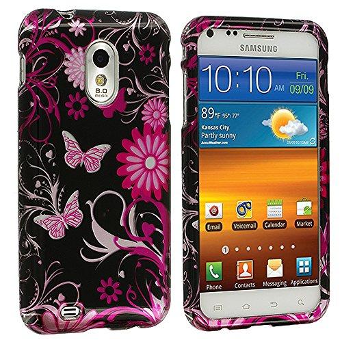 Samsung Sprint Galaxy S2 Case, TechSpec(TM) Pink Butterfly Flower Design Crystal Hard Case Cover for Samsung Epic Touch 4G D710 Sprint Galaxy S2 (Sprint Samsung Galaxy S2 Case compare prices)
