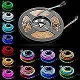 光が流れる LEDテープライト RGB 5m 12V SMD5050 リモコン操作 流れるLEDテープ/ LEDテープ RGB