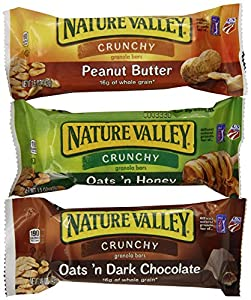 Nature Valley Crunchy Granola Bar Variety Pack, Oats n Dark Chocolate, Peanut Butter & Oats n Honey, Net Wt. 8.98 Oz, (Pack of 6)