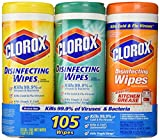 Clorox Disinfecting Wipes Canisters, Value 3 pack and each pack contains 35 wipes