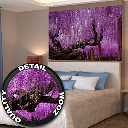 Great art wisteria wanddekoration wandbild blumen motiv for Raumgestaltung arbeitszimmer