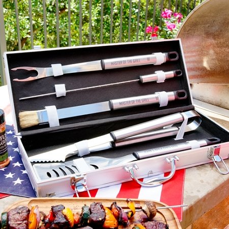 Stainless Steel Personalized Grilling Tool Set