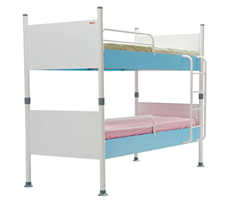 Blue Point Children's Bunk Bed with UV Printed, 100 x 175 x 210 cm, White