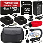 Ultimate Accessory Kit For the GoPro HERO3+ Black Edition, HERO3+ Silver Edition, HERO3 SIlver Edition, Black Edition, White Edition, HERO2 Outdoor Edition & Surf Edition Cameras - Kit Includes 64GB Micro Sd Memory Card, 2 Extended Life 2000MAH AHDBT-301 Battery Packs , AC/DC Battery Charger, HDMI to Micro HDMI Cable, Opeka X-GRIP Professional Action Stabilizing Handle + GoPro Gadget Bag Carrying Case + Floating Wrist Strap Deluxe + Lens Cleaning Kit + LCD Screen Protectors + 47stphoto Microfibe