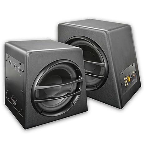 AXTON aXB20A caisson de graves actif box woofer basskiste caisson de basses avec amplificateur 2 x 20 cm