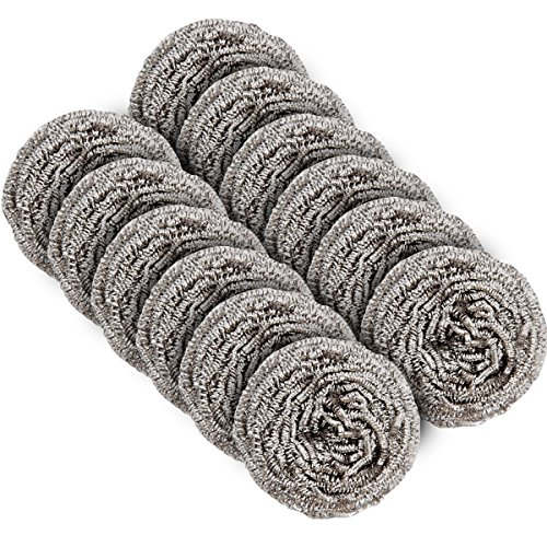 MR. SIGA Stainless Steel Scourer,Pack of 12,30g