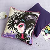 Onitiva - [Magician] Cotton Decorative Pillow Cushion / Floor Cushion (19.7 by 19.7 inches)