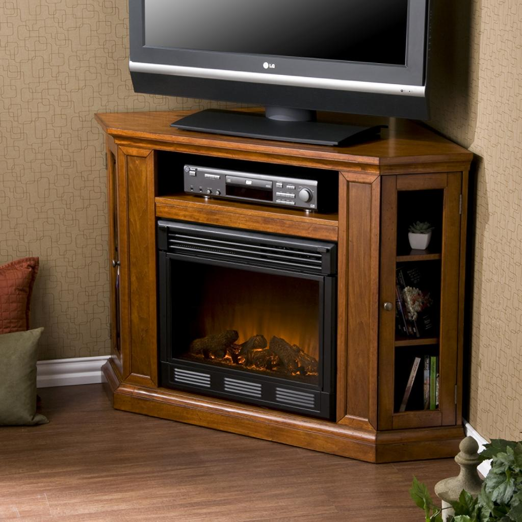 Corner Electric Fireplace TV Stand 1024 x 1024
