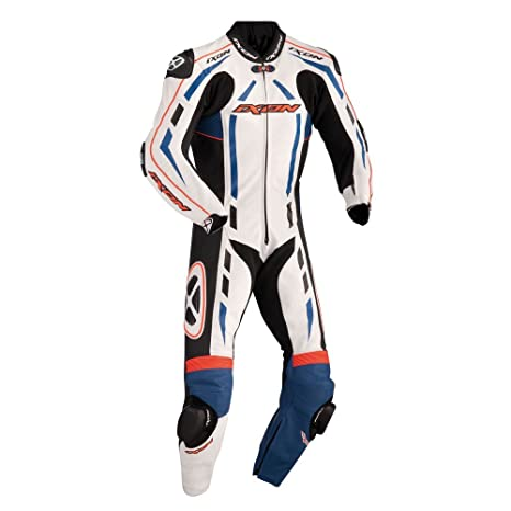 Ixon - Pulsar Air Combinaison Cuir Homme Bleu/Rge Fluo/Blc/Noir - Taille : 2Xl