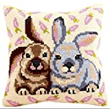 Collection dArt 40 x 40 cm Flopsy Mopsy Cross Stitch Cushion Kit