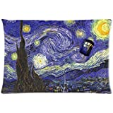 "Tardis Doctor Who Starry Night Custom Zippered Pillow Case 20""x30""(two sides) - Shinhwa Create"