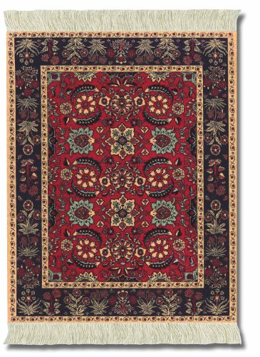 Lextra (Pashmina Flowers), Mouse rug, Black/Red/Tan/Rust/Light Blue, 10.25 x 7.125 Inches, One (MPF-1)