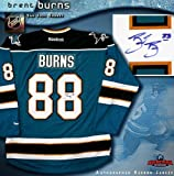 Brent Burns Autographed Uniform - San Jose Sharks Teal Reebok Premier - Autographed NHL Jerseys at Amazon.com
