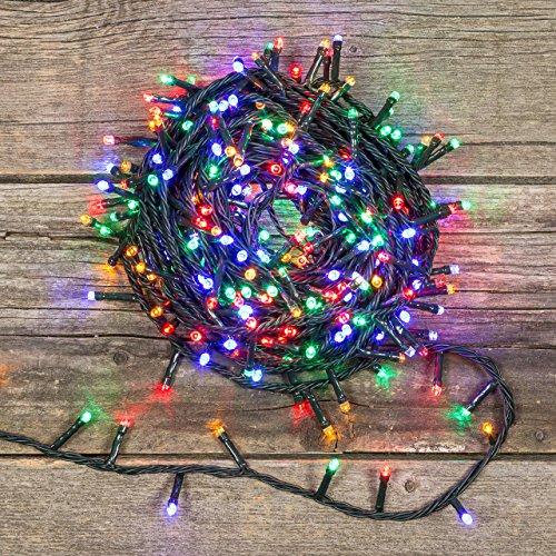 Catena 25,5 m, 360 led multicolor, luci natalizie, luci per l'albero di Natale, luci di Natale