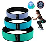 fitGevity Resistance Bands Exercise Bands for Legs and Butt,Fabric Non Slip Hip Fitness Booty Workout Bands, Set of 3 Resistance for Man Women Gym,Act