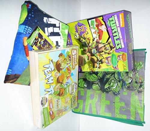 Teenage Mutant Ninja Turtles 4-piece Bundle: Beach Towel, Cra-Z-Art Turtle Maker Kit, Wooden Puzzle 5-pack, Tote Bag (Ninja Turtle Dough compare prices)