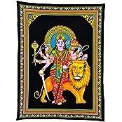 Redbag Goddess Sherawali Cotton Tapestry