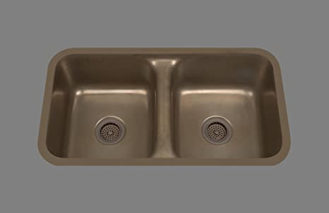 Bates & Bates Zena Z1832P.ZC Z Copper Dual Mount Kitchen Sink 17 3/4 x 32 x 10